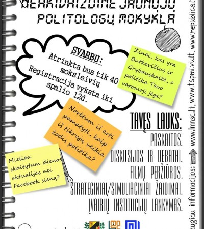 Kviečiame registruotis į Neakivaizdinę jaunųjų politologų mokyklą
